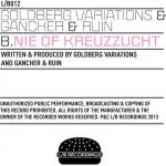 Cover: Goldberg Variations & Gancher & Ruin - Nie Of Kreuzzucht