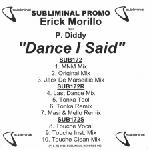 Cover: Erick Morillo feat. P. Diddy - Dance I Said (Touché Vocal Remix)